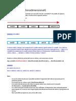 Vettori (Array Monodimensionali) (Linguaggio C)