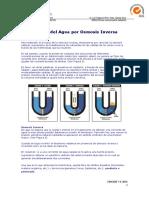 Principios Basicos Del Tratamiento Del Agua Por Osmosis Inversa