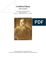 Gottfried Benn - Poèmes