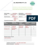 Job Analysis Template - Recruitment and Workforce Planning