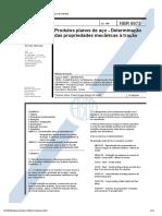 Ensaio de Tração Em Produtos Planos - NBR 6673