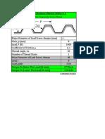 LeadScrewCalculator Metric DIN103