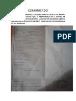 Resp. de La of. de Infraestructura)