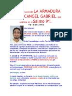 Hoy Cristo te concede LA ARMADURA DEL ARCANGEL GABRIEL, que Aparece en el SALMO 91! ^_^ 12