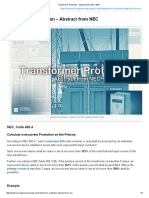 Transformer Protection - Abstract From NEC _ EEP