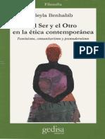 Seyla Benhabib El Ser y El Otro en La Etica Contemporanea