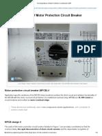 The Design Basics of Motor Protection Circuit Breaker _ EEP