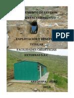 2014 Re-igac-empresa Facilidades Crediticias y Externas Sa (Consesion Minera 90)