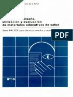 Guía Para El Diseño, Utilización y Evaluación de Materiales Educativos de Salud 1