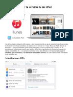 Cómo Actualizar La Versión de Mi iPad