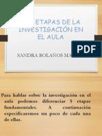 Etapas de La Investigacion Aula