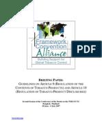 FCA Briefing Paper