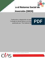 Guia Para El Retorno Social de La Inversion SROI- Grupo Civis
