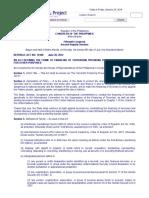 RA 10168 - Terrorism Financing Prevention
