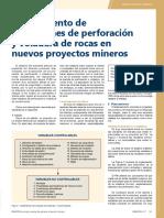 Planeamiento de operaciones de perforación y voladura de rocas en nuevos proyectos mineros