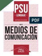 Lenguaje y Comunicación 2 2017 - Medios de Comunicación