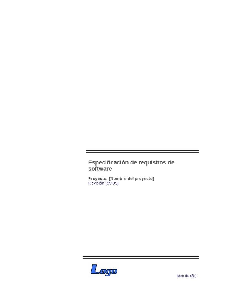 PLANTILLA PARA LA ELABORACION DE REQUERIMIENTOS IEEE830