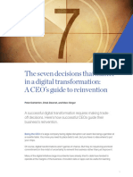 The Seven Decisions That Matter in a Digital Transformation