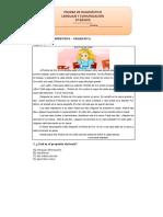 3° Básico Lenguaje y Comunicación Prueba de Diagnóstico