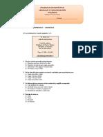 4º Básico Lenguaje y Comunicación Prueba de Diagnóstico