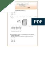 4º Básico Matemáticas Prueba de Diagnóstico