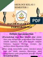 Farmakologi Dasar Farmasi Bagian 1