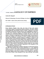 Sinopoli 1994 Archaeology of Empires