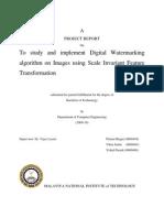 Project Report on Digital Watermarking
