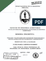 Valor Agregado de Especies Vegetales de La Región; Extracción de Colorantes y Saborizantes.