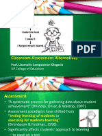 Classroom Assessment Alternatives