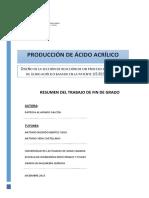 ácido acrilico