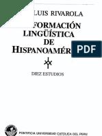 1990 Jose Luis Rivarola. La Formación Linguistica de Hispanoamerica
