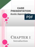 45094644 Case Presentation Appendicitis