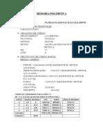 Memoria Descriptiva subdivision