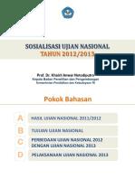 Bahan Sosialisasi-UN 2013