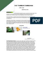 khasiat tumbuhan pengobatan