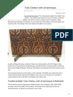 Batikdlidir.com-Traditional Batik Tulis Cirebon With All Technique