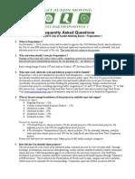 Austin Proposition 1 FAQ
