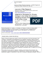 Adaptation Strategies for Cilimate Change