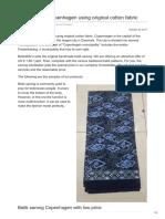 Batikdlidir.com-Batik Sarong Copenhagen Using Original Cotton Fabric