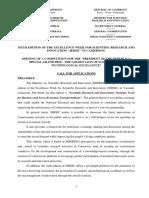 Application for MINRESI