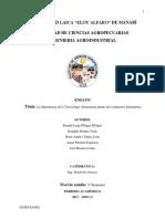 Ensayo. Importancia de La Toxicología Alimentaria Dentro de La Industria Alimentaria