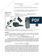 Práctica de Laboratorio (Mecánica)- Velocidad Media e Instantánea (Riel de Aire)
