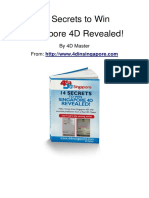 14 Secrets to Win Singapore 4D Revealed!