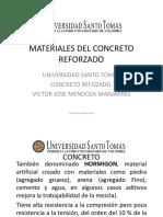 Materiales del concreto reforzado