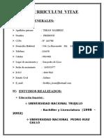 CURRICULUM VITAE Freddye Teran Ramirez 2008
