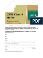 Square and Square Roots - NCERT Solutions for Class 8 Maths - Takshilalearning