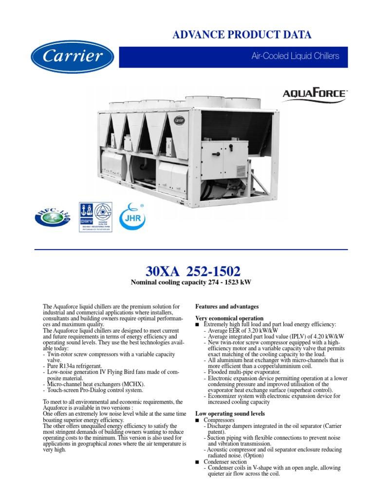 30xa chiller catalog heat exchanger air conditioning rh scribd com