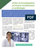 Katia Menacho, la investigadora peruana que busca revolucionar la cardiología