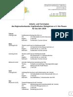 2018 arbeits- und terminplan des rvk  2